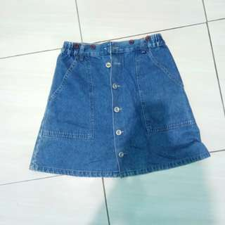 rok jeans kancing