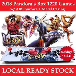 Arcade Retro Game Console Pandora's Box 5S 999 / 1220 Games / Metal Box with Backlight
