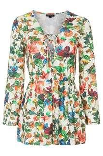 Topshop Floral Playsuit