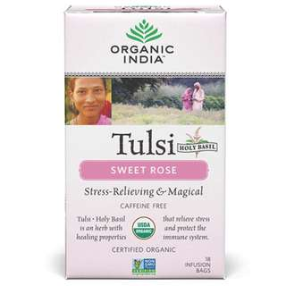 羅勒茶 Organic Tulsi Sweet Rose 18 Tea Bags - Organic India