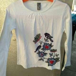 Zara white longsleeves top