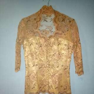 Kebaya modern gold