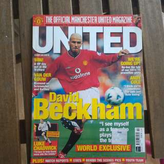 Mancherter united vintage magazine feb-2001