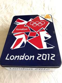 London 2012 Olympics Biscuit Tin Box