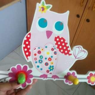 Cutie owl coat hook