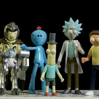 Complete set sealed rick and morty action figures