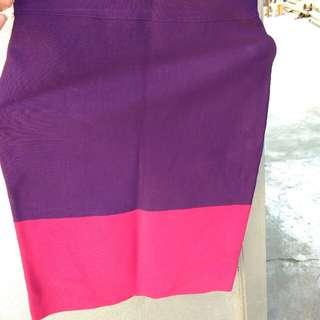 BCBG Maxazria Color Block Skirt