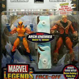 Marvel Legends Face Off Wolverine vs Sabretooth