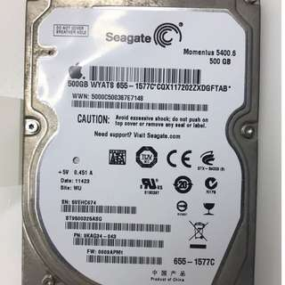 "Seagate 2.5"" HDD 500GB from Apple Macbook Pro"