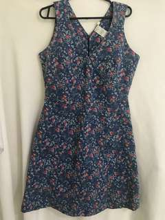 Shapes floral maong dress