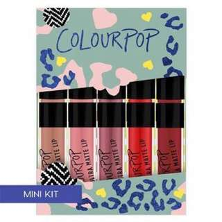 Colourpop the good times mini size kit lip liquid lipstick