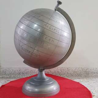 Vintage Aluminium Globe