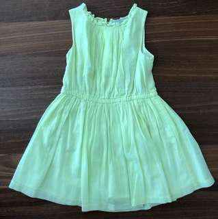 Florescent Yellow Dress for 5-6yo