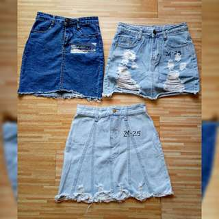 😍😍DENIM SKIRTS 24-25