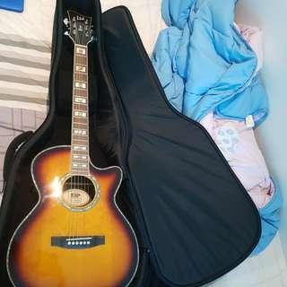Accoustic guitar+bag