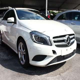 MERCEDES BENZ A180 BLUE EFFICIENCY 2013 WHITE NAVI 1.6cc PADDLESHIFT UNREGISTERED