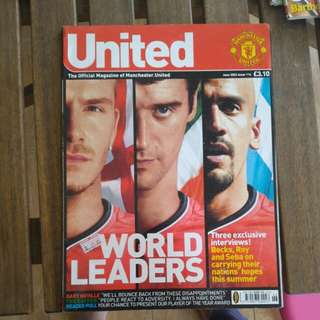 Manchester united vintage magazine june 2002