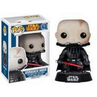 Funko Pop Star Wars Unmasked Darth Vader