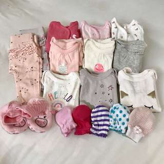 Baby 0-3m Gap/Cotton On/Mothercare — All for RM100 (Free Shipping)