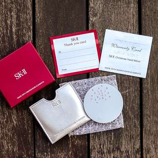 SKII Mirror with Swarovski crystals in soft pouch