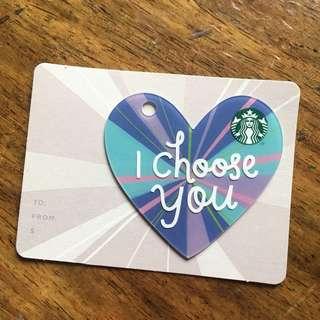 starbucks card (heart)
