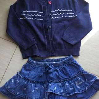 Bundle Cardigans and Skirt