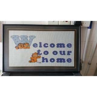 Cross Stitch With Frame