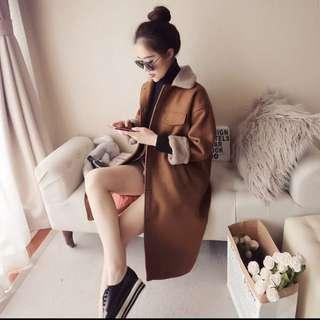 Korean Midi Wool Coat