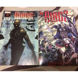 Blade English Comic (x2) and G.I.Joe Handbook