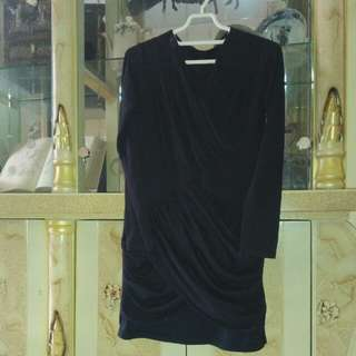 Freeong Dress hitam silang