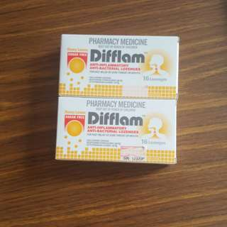 [BN] Difflam Honey Lemon Sugar Free lozenges