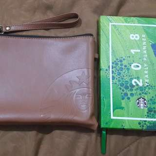 Starbucks Pouch & Planner Brown