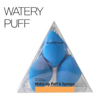 Olive Young Make-up Puff & Sponge / Watery Puff 3pcs