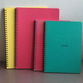 A'Zone Notebooks (Assorted Sizes & Colours)