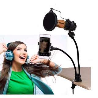 🎤🎧🎼🎹PROFFESIONAL RECORDING KTV/MICROPHONE FLEXIBLE ARM STAND SUPPORT/HOLDER 🎤🎧🎼🎹ac/nt