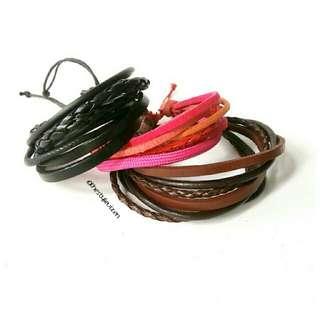 Multi Leather Handmade Bracelet
