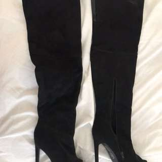 Missguided thigh high boots