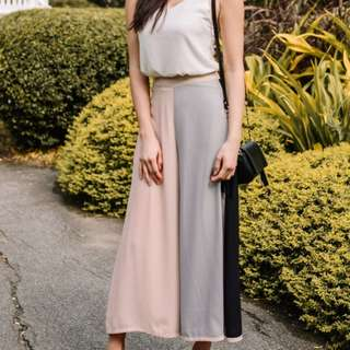 Fashmob Colourblock Flowy Pant