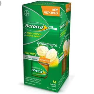 BNIB BEROCCA Fizzy melt tablets 14 chewable tablets