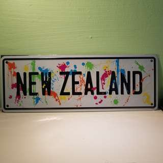 New Zealand Number Plate