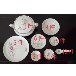 🚚 日本製古早,古董碗盤組