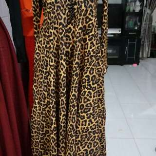 Long dress Muslim leopard
