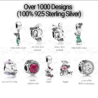 Over 1000 Designs (925 Sterling Silver Charms) To Choose From, Compatible With Pandora, T27