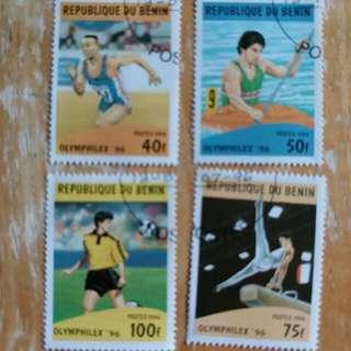 貝寧郵票1996年奥運纪念已銷郵票
