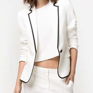 White Blazer Mango Suit
