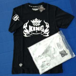 Top King World Series Premium T-Shirt (Black/Silver)