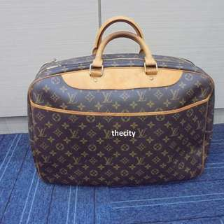 AUTHENTIC LOUIS VUITTON MONOGRAM ALIZE 24 HEUER LUGGAGE TOTE BAG