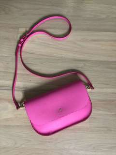 Kate Spade New York Cape Drive Jettie Crossbody Pink Saffiano Leather Ba