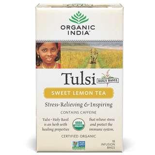 Tulsi Sweet Lemon Tea 18 Tea Bags - Organic India