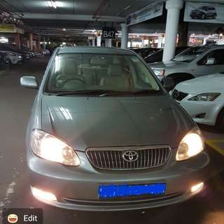 Renting out toyota altis